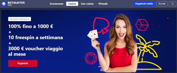 Betmaster, Betmaster Italia, Betmaster scommesse, Betmaster casinò, betmaster bonus